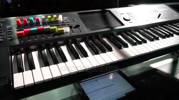 Musical equipment. synthesizer. panoramic view.
