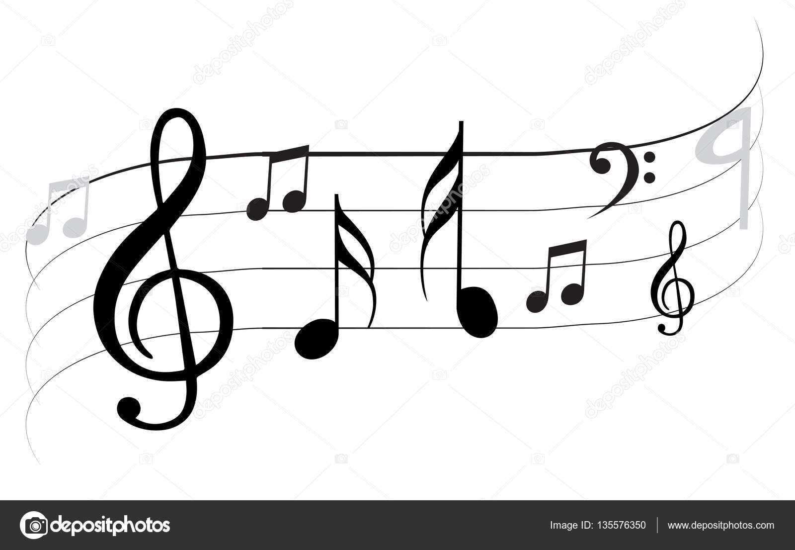 Music Note Design Stock Vector C Lahiruudara 135576350