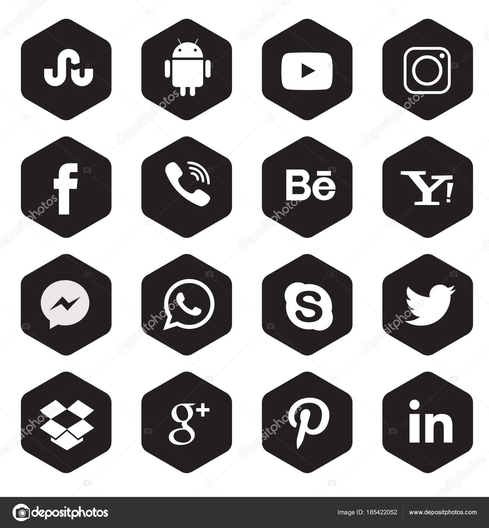 2c6716eaa140d Colección Iconos Redes Sociales — Vector de stock © lahiruudara ...