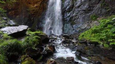 Waterfall Caucasus Georgia, slow-motion