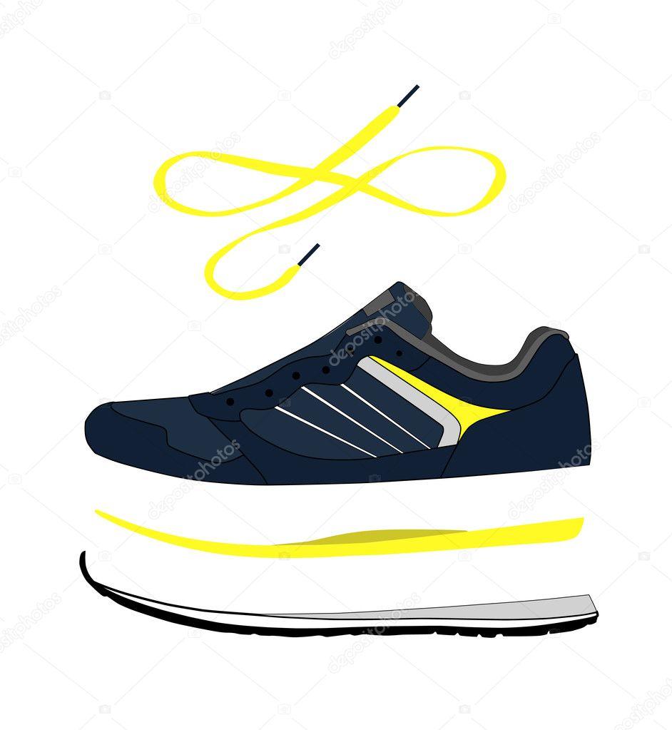 De Zapatillas Stock Para Correr Partes — Elegantes Vector 2WEI9YDH