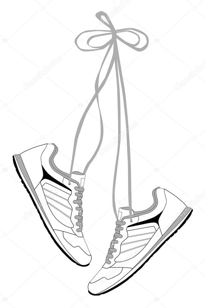 Dibujo Zapatillas Correr Elegantes Zapatillas Para Correr Con Los