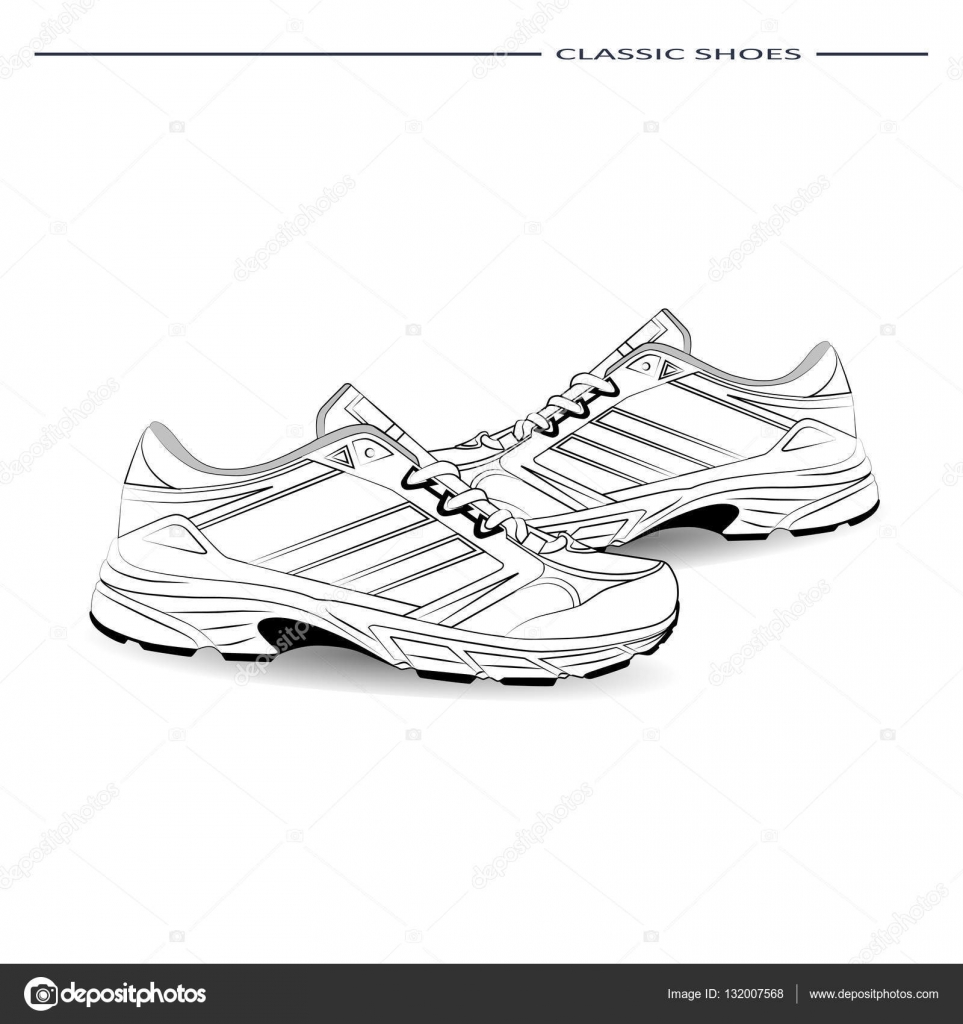 Imagenes Zapatillas Para Dibujar Dibujo Boceto De Elegantes