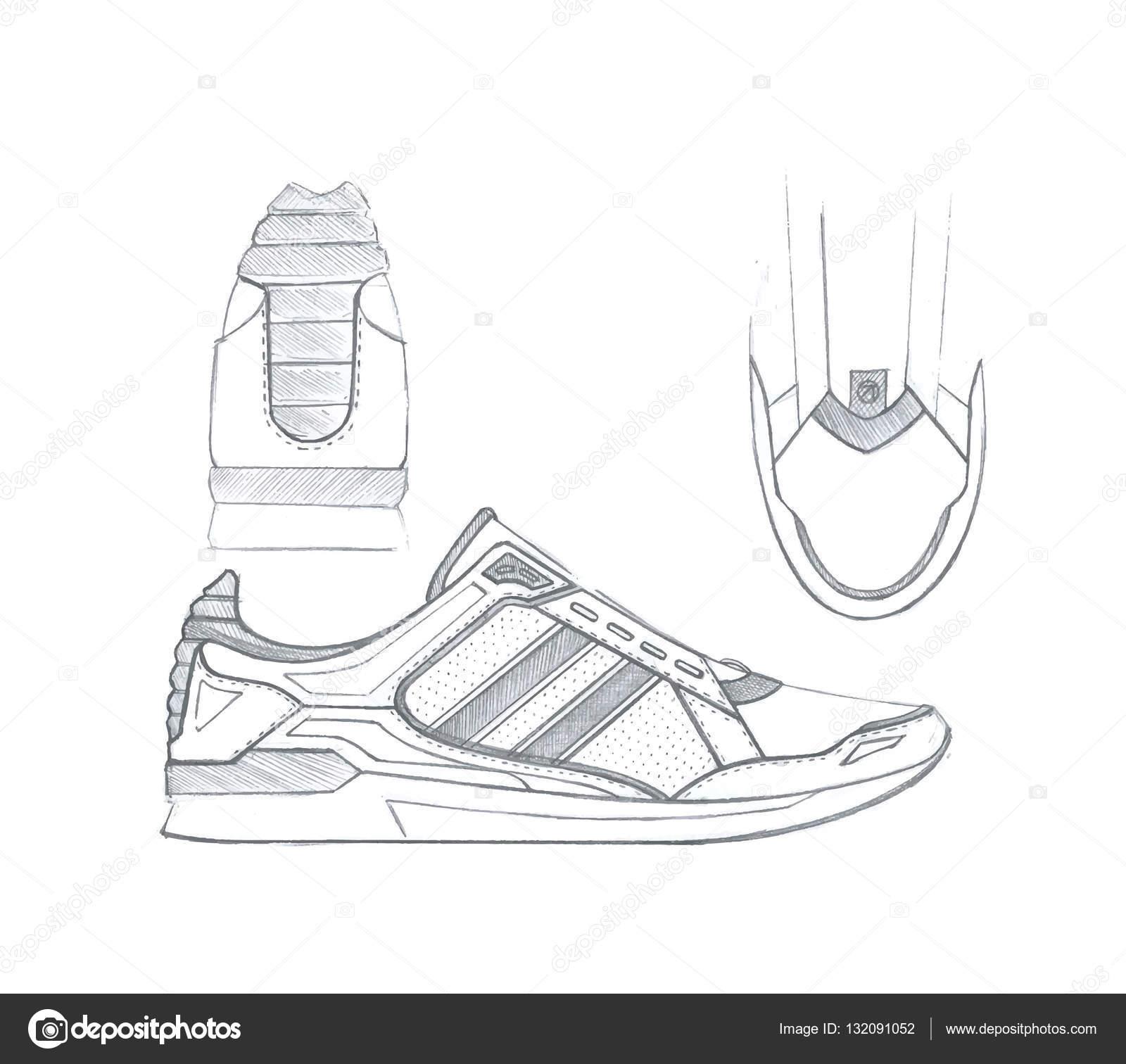 Chaussures Croquis De Sport Dessin image Vectorielle Maxbax w5cEgvPqPx