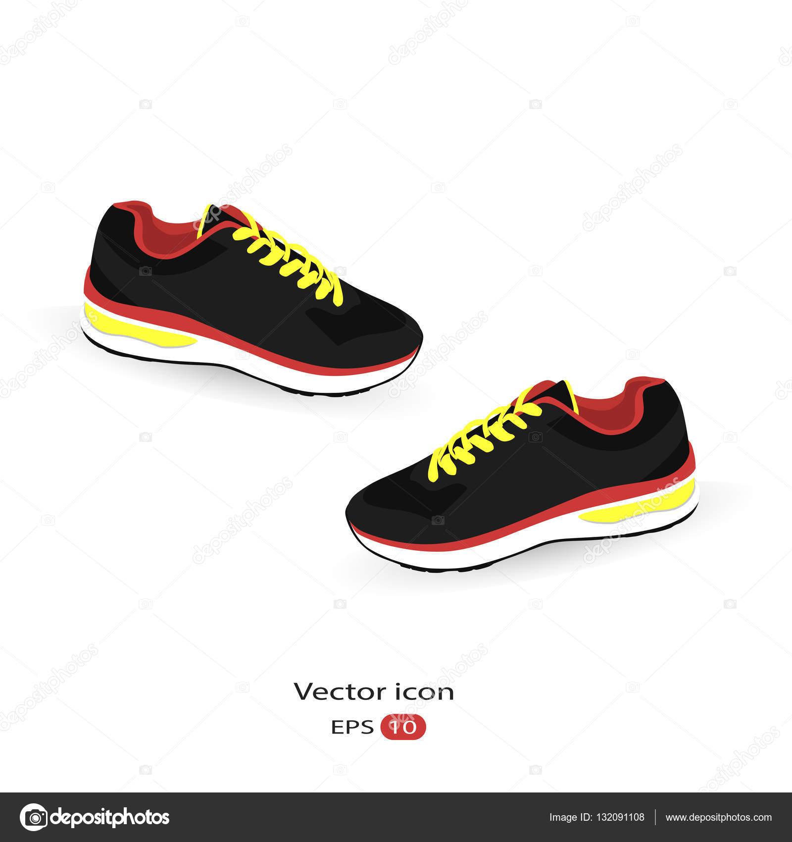 Stylische Sneaker für die Ausbildung — Stockvektor © maxbax