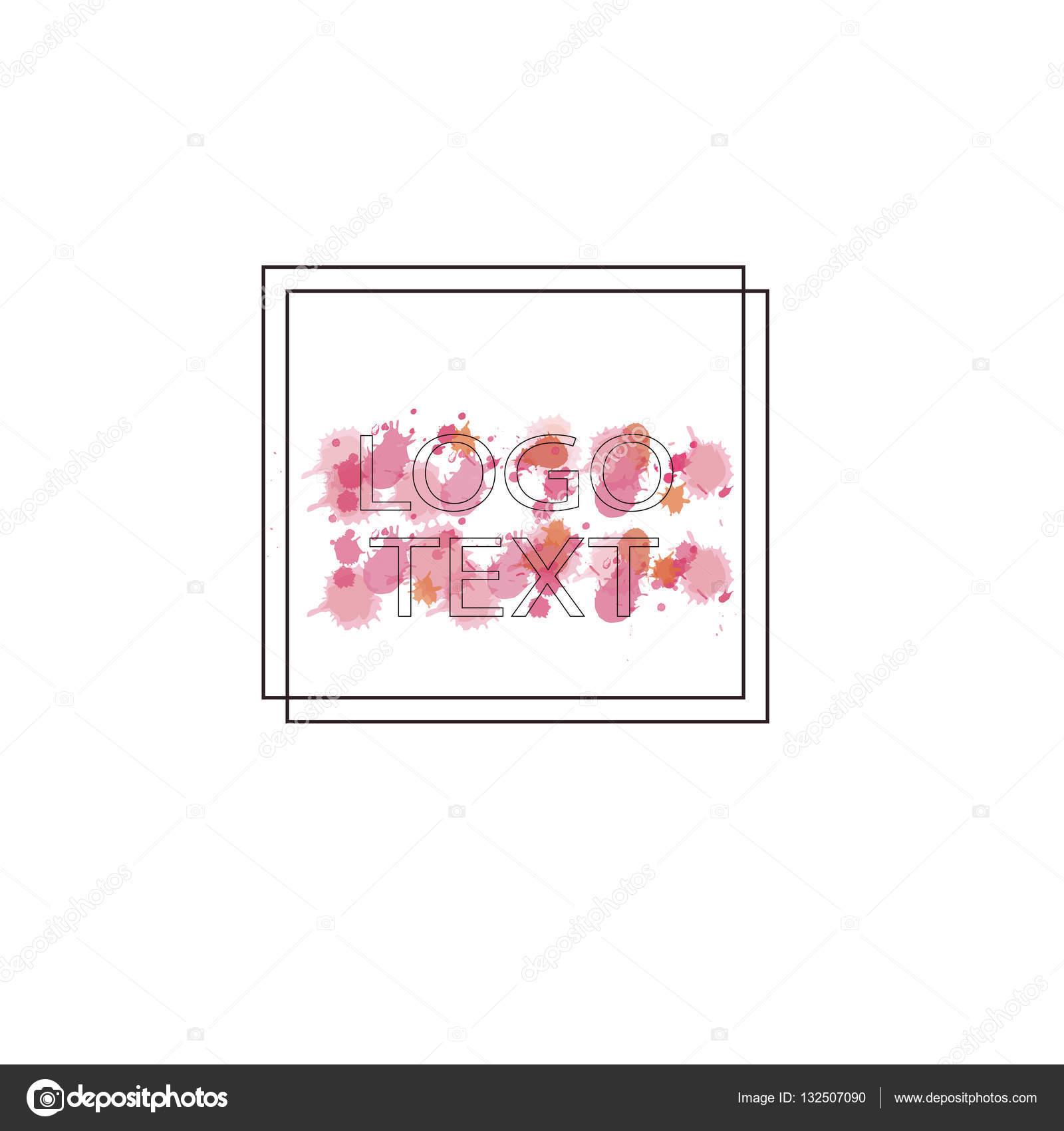 Marcos para el Logo con manchas de acuarela — Archivo Imágenes ...