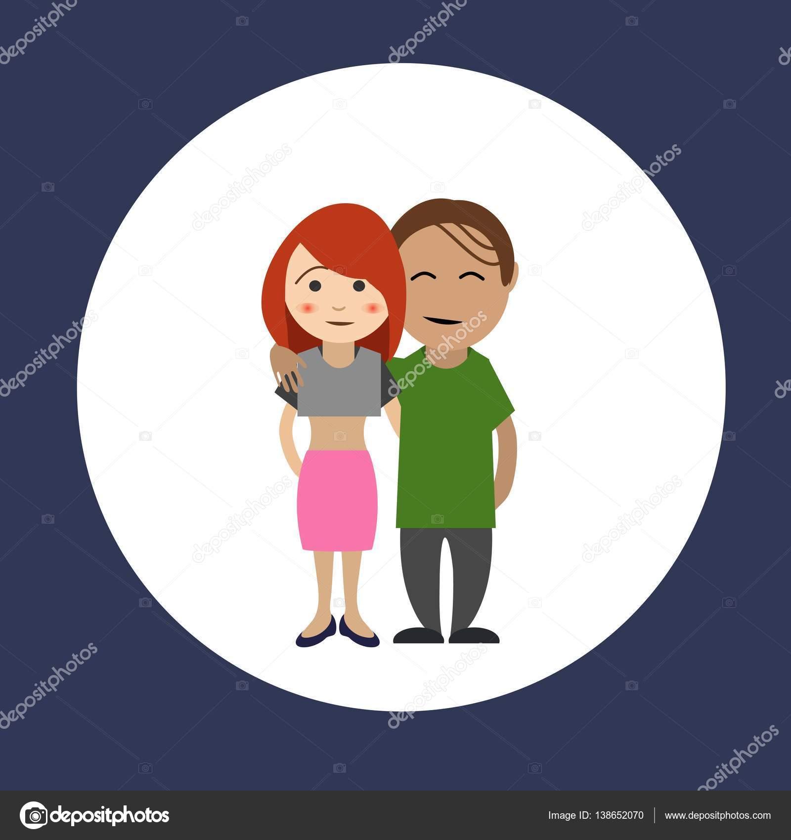 Personaggi dei cartoni animati di amici felici u vettoriali stock