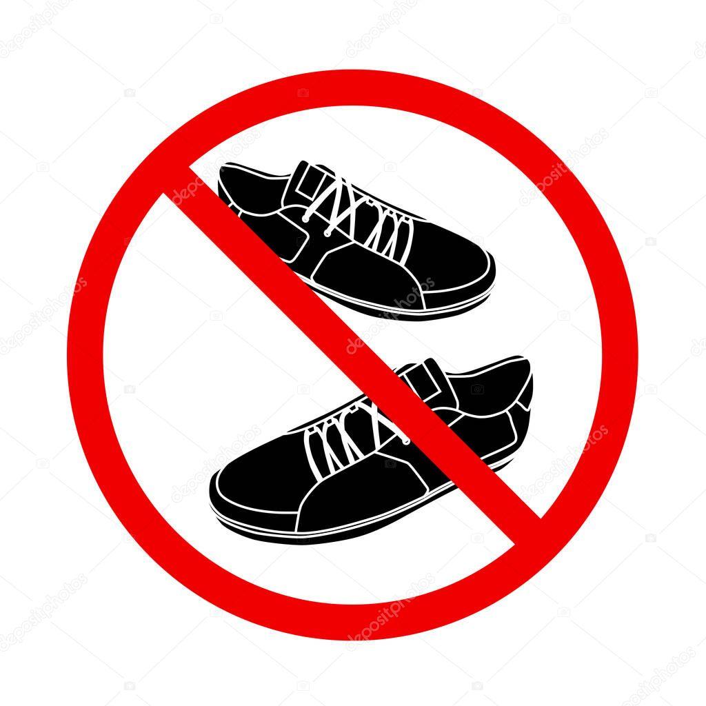 Знак не входить в обуви