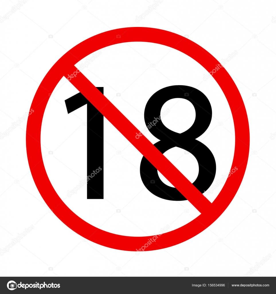 no hay se ales de 18 a os de edad icono contenido adultos se al de prohibici n rojo s mbolo. Black Bedroom Furniture Sets. Home Design Ideas
