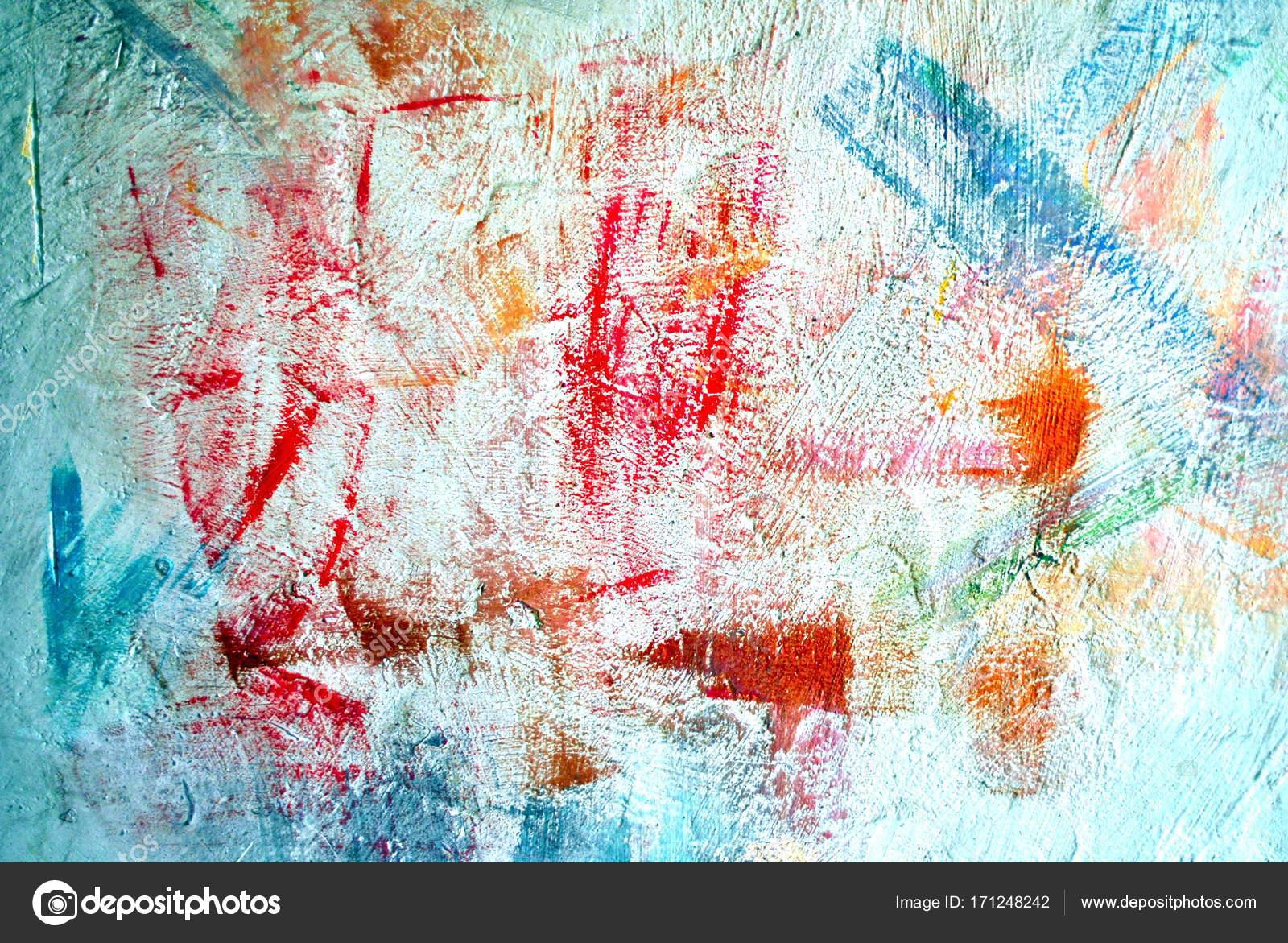 farbige flecken an der wand putzen — stockfoto © maxbax #171248242