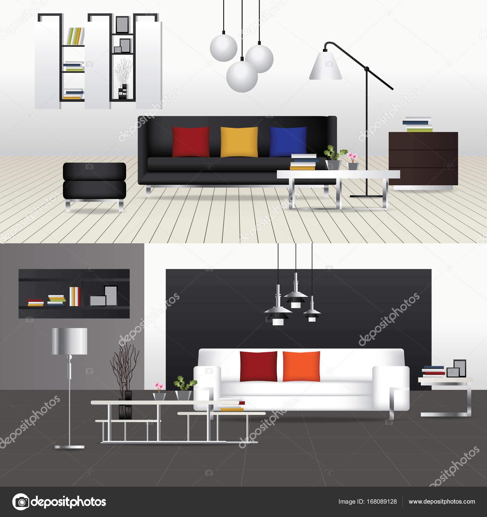 Dise o plano interior sala de estar y mobiliario de for Diseno de interiores sala de estar