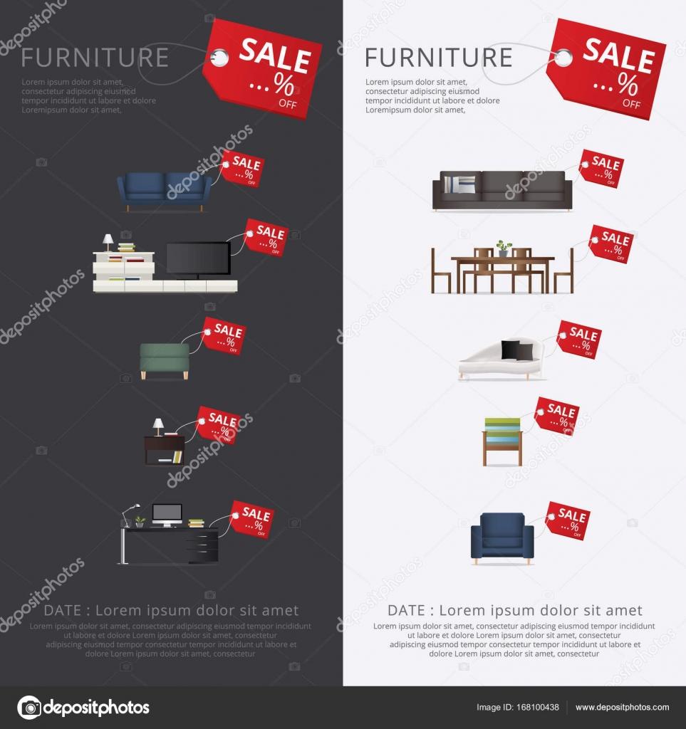 Ilustraci N De Vector De Banner Muebles Venta Publicidad Flayers