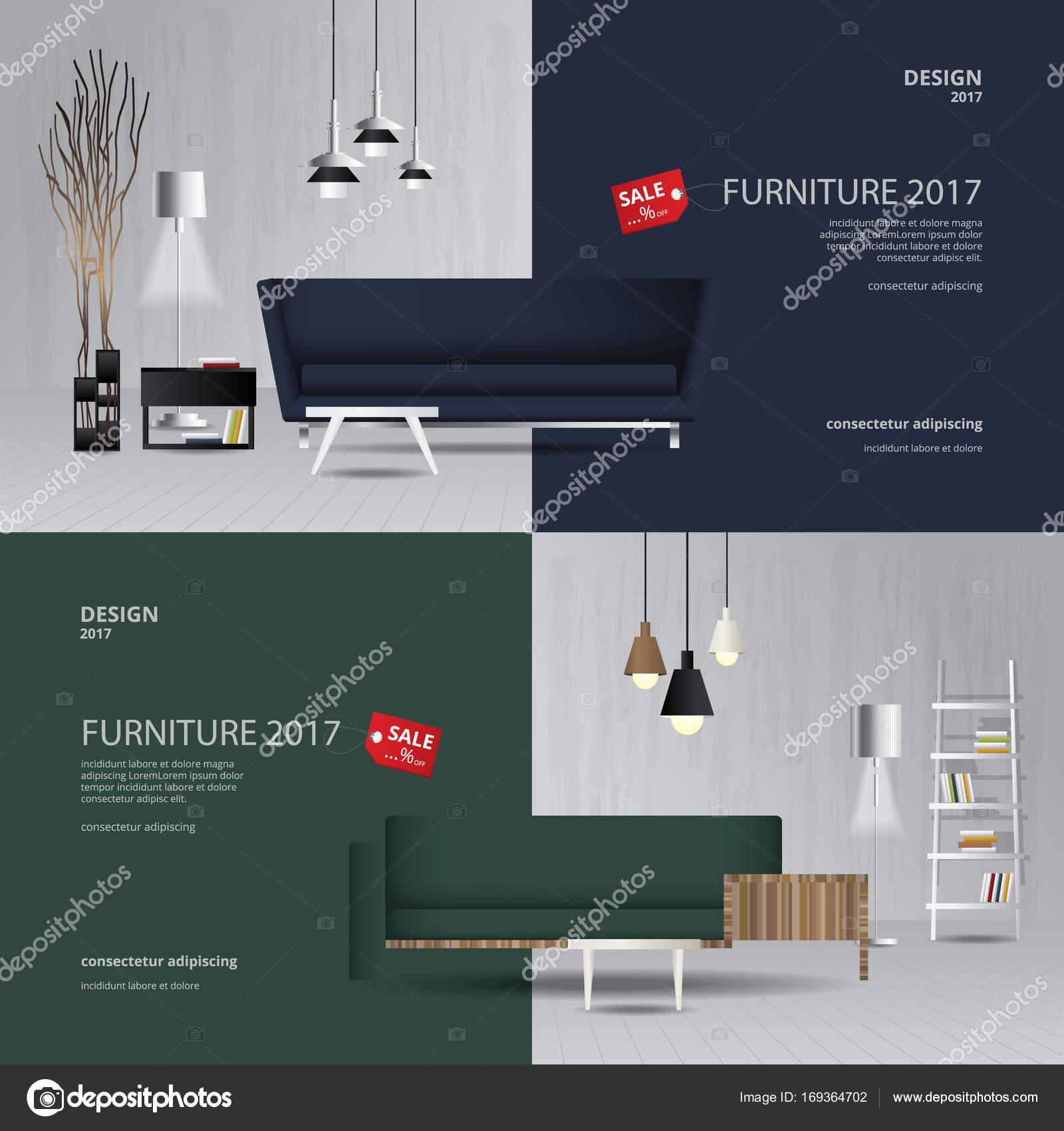 furniture sale banner. 2 Banner Furniture Sale Design Template Vector Illustration \u2014 Stock G