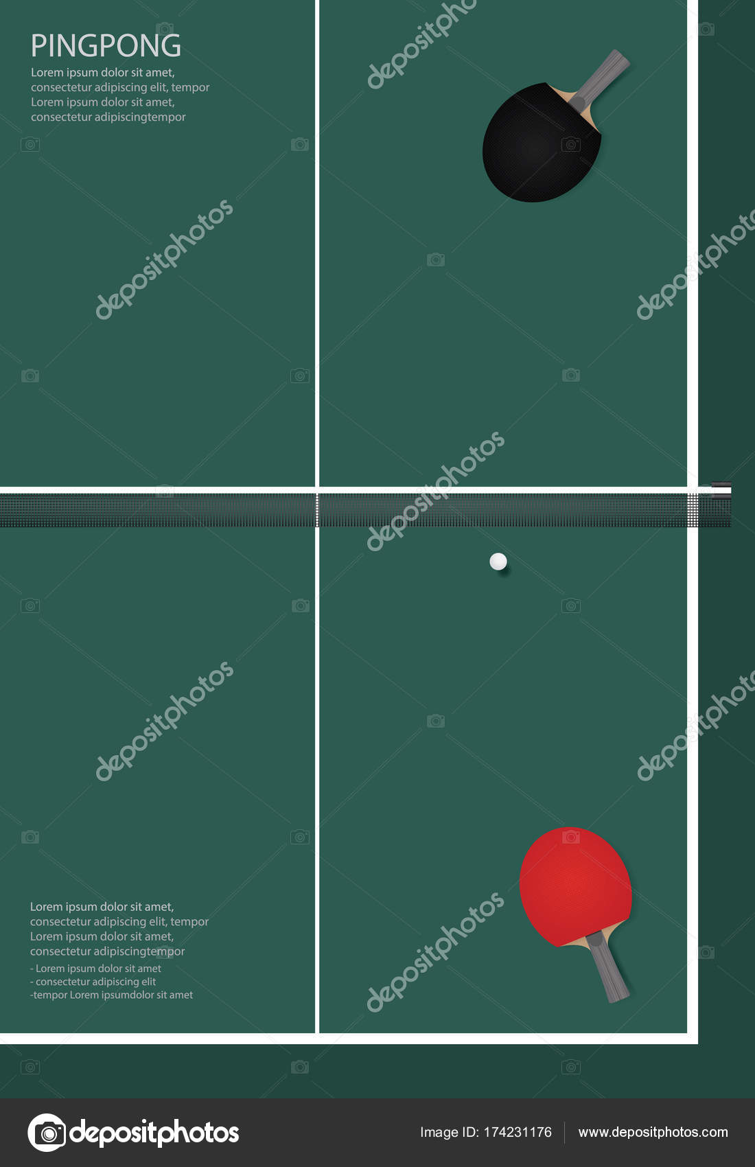 Ilustración de Vector de plantilla ping-pong Poster — Archivo ...