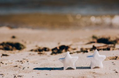 stars on sand near ocean