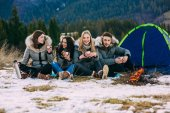 Fotografie young people in mountains