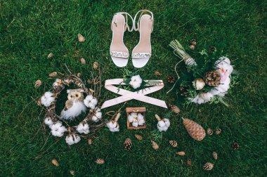 pair of brides shoes