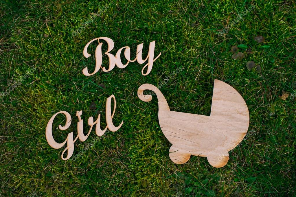 Wooden letters boy, girl