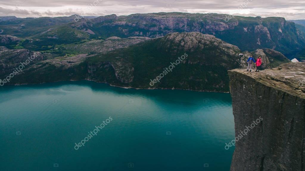 Preikestolen massive cliff