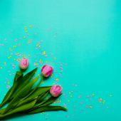 Fotografie Bouquet of pink tulips