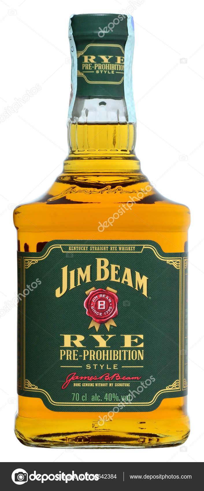 american whiskey jim beam rye stock editorial photo gueriero93