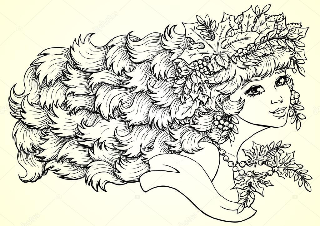 Девочка Осень Картинки Для Детей Раскраски