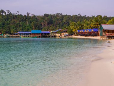 View of the Sok San Village on the Koh Rong island, Cambodia