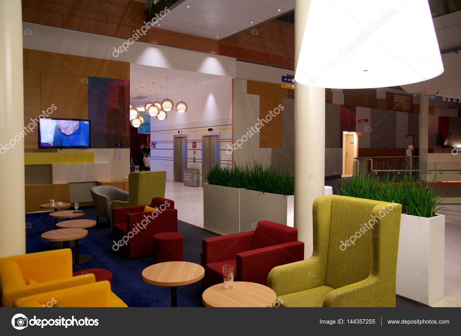 Oslo, Noorwegen - 20 Jan 2017: lounge van een hotel. Fragment van de ...