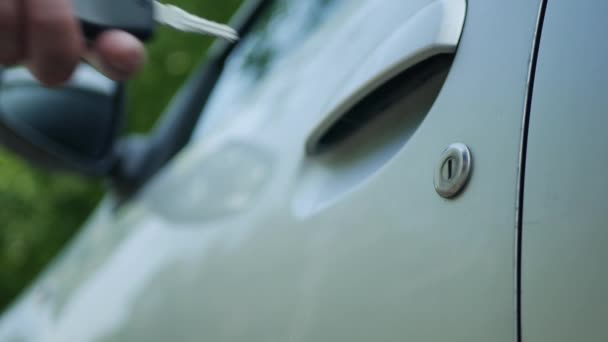 Driver Hand Opening with Car Key Automobile Door