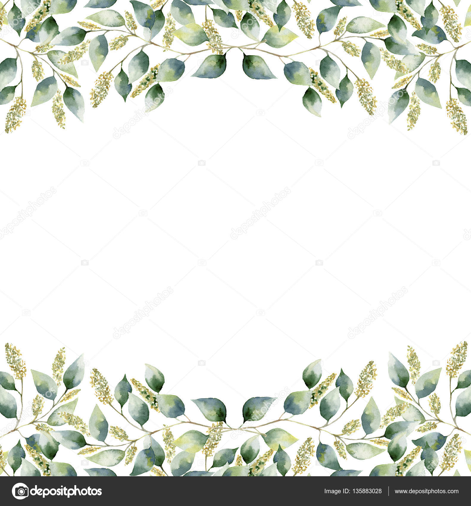 free green floral frame - photo #14