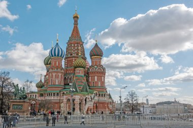 MOSCOW, RUSSIA - March 23, 2017: Saint Basil's Cathedral in Moscow