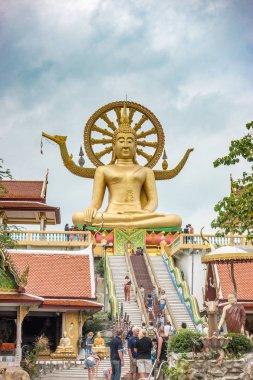 KOH SAMUI, THAILAND - December 19, 2017: Wat Phra Yai. Wat Phra Yai, known in English as the Big Buddha Temple, is a Buddhist temple on Ko Phan