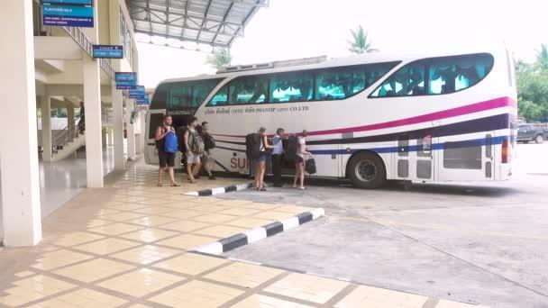 Koh Samui, Thajsko - 20 prosince 2017: Autobusového terminálu Samui