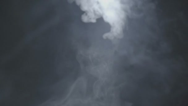 Beautiful movement of the smoke in the air on a black background.