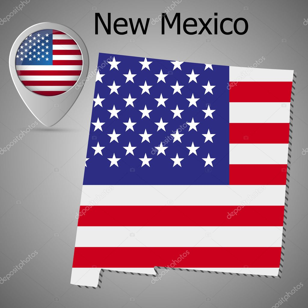 New Mexico State map with US flag inside and Map pointer ... on united states flag border, united states flaf, american flag, united states flag soccer, united states flag with eagle, united states flag drawing, chiapas state flag, united states america flag, 1830 united states flag, united states flag 1861, united states flag history, londonderry ireland flag, united states national flag, united states flag background, mexican flag, united states flag waving, united states flag texture, united states post flag, united states flag code, united states army flag,