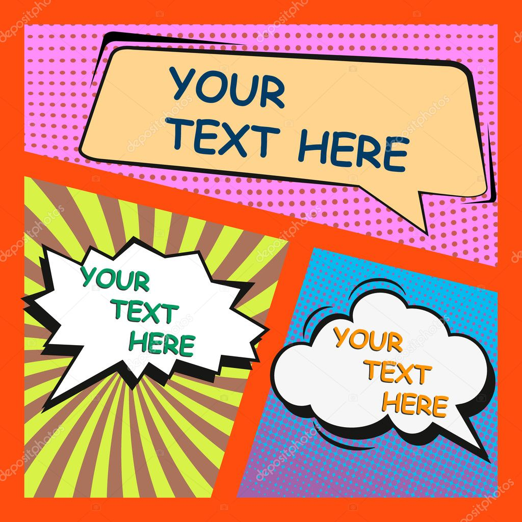 comic book page with speech bubbles cartoon theme stock vector