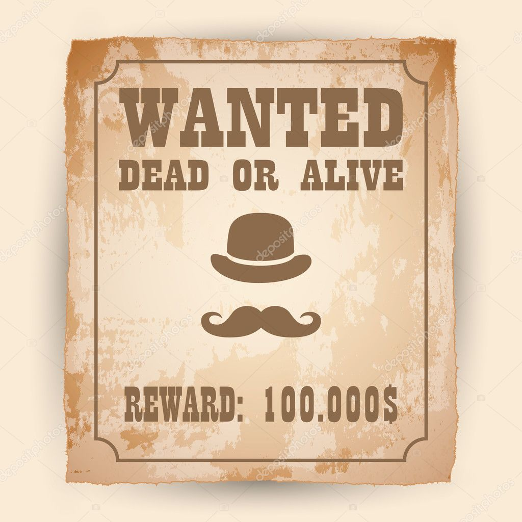 a old wanted posters vector wanted poster image stock vector