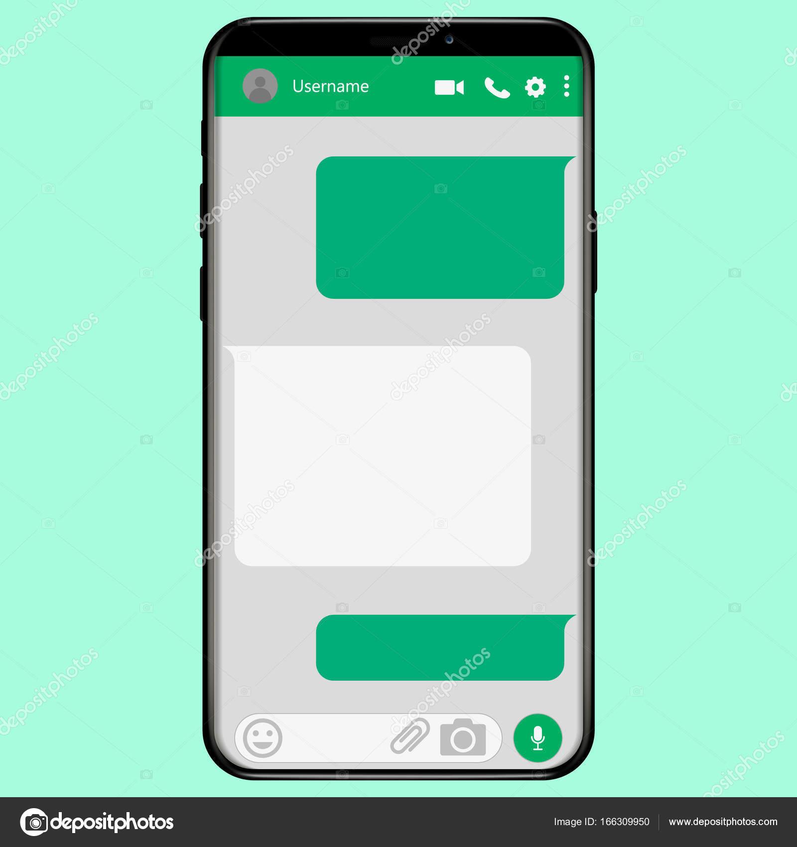 ソーシャル ネットワーク メッセンジャー概念フレーム、ベクトル イラスト \u2014 ベクターKasheev