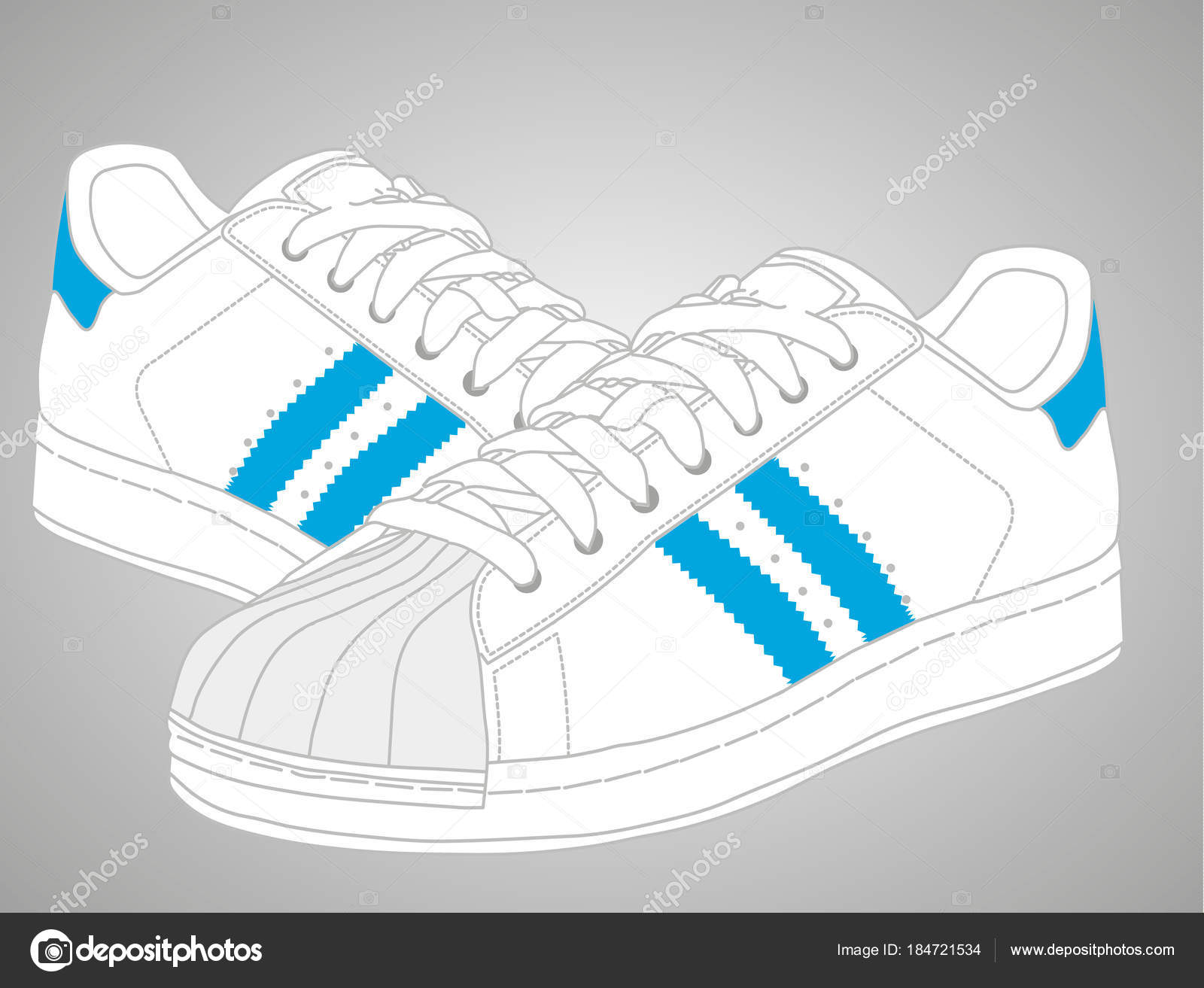 Vector: adidas sneakers | Adidas Sport vestir para hombres y