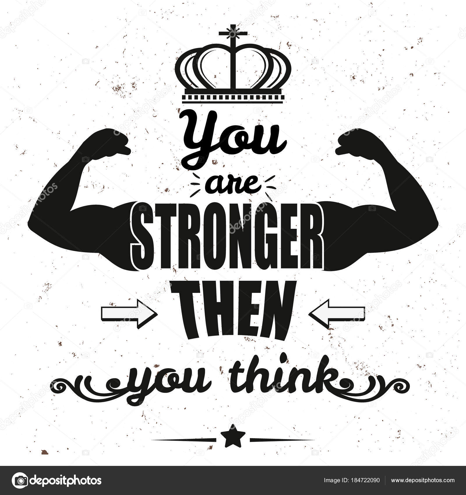 You Are Stronger Than You Think Lettering Doodle Typographic Poster