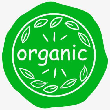vegetarian labels with lettering organic