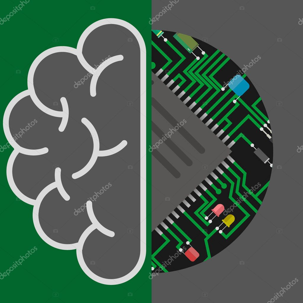 Icons Website Search Over 28444869 Icon Circuit Board Graphic Design Grunge Stock Photos Brain And Artificial Intelligence Or Ai Concept