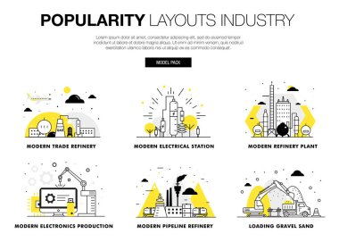 Popularity modern layouts global industry