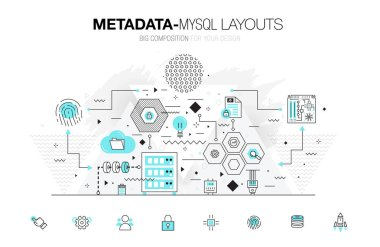 Metadata trendy modern mysql layouts thin line composition