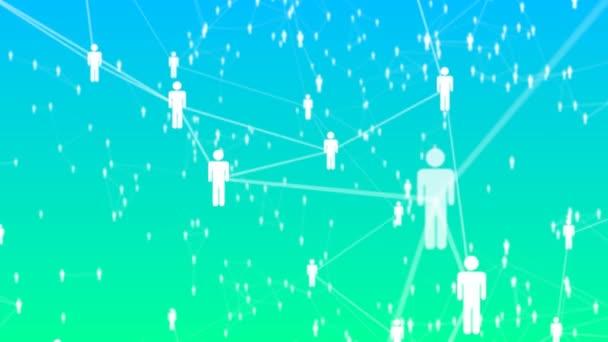 abstrakter Hintergrund mit Animation Cloud-Netzwerk von der Verbindung vieler Benutzer oder Daten.