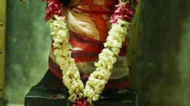 A Statue of Lord Hanuman the Hindu goddess, Traditional Hindu temple, Tilt Up