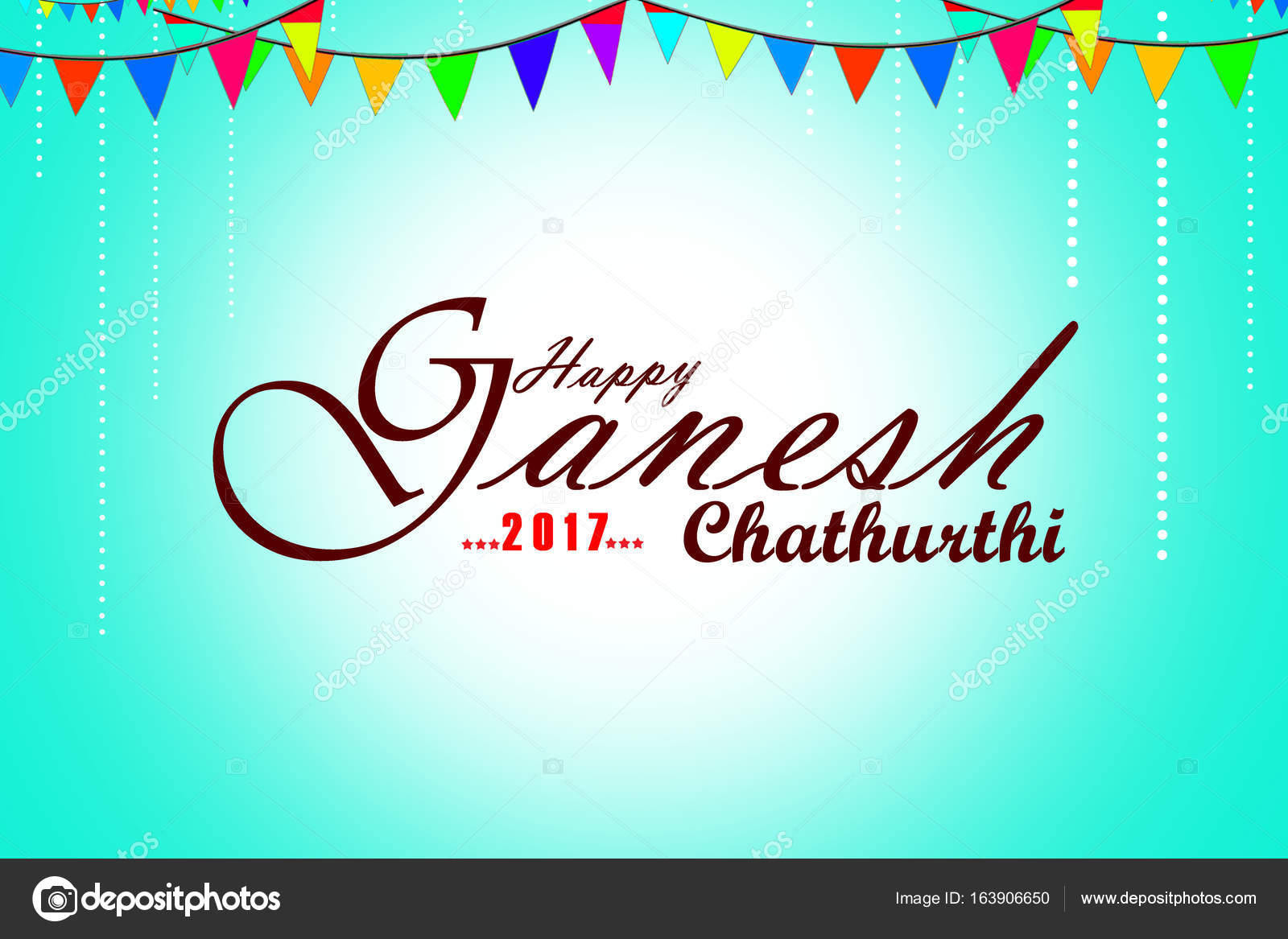 Happy Ganesh Chaturthi Festival Greeting Card Or Poster Design