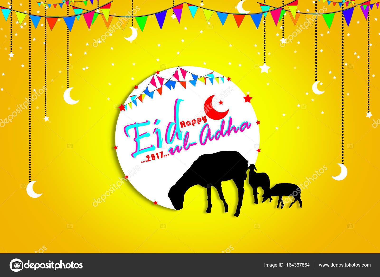 Muslim Community Festival Eid Ul Adha Mubarak Celebrations Greeting