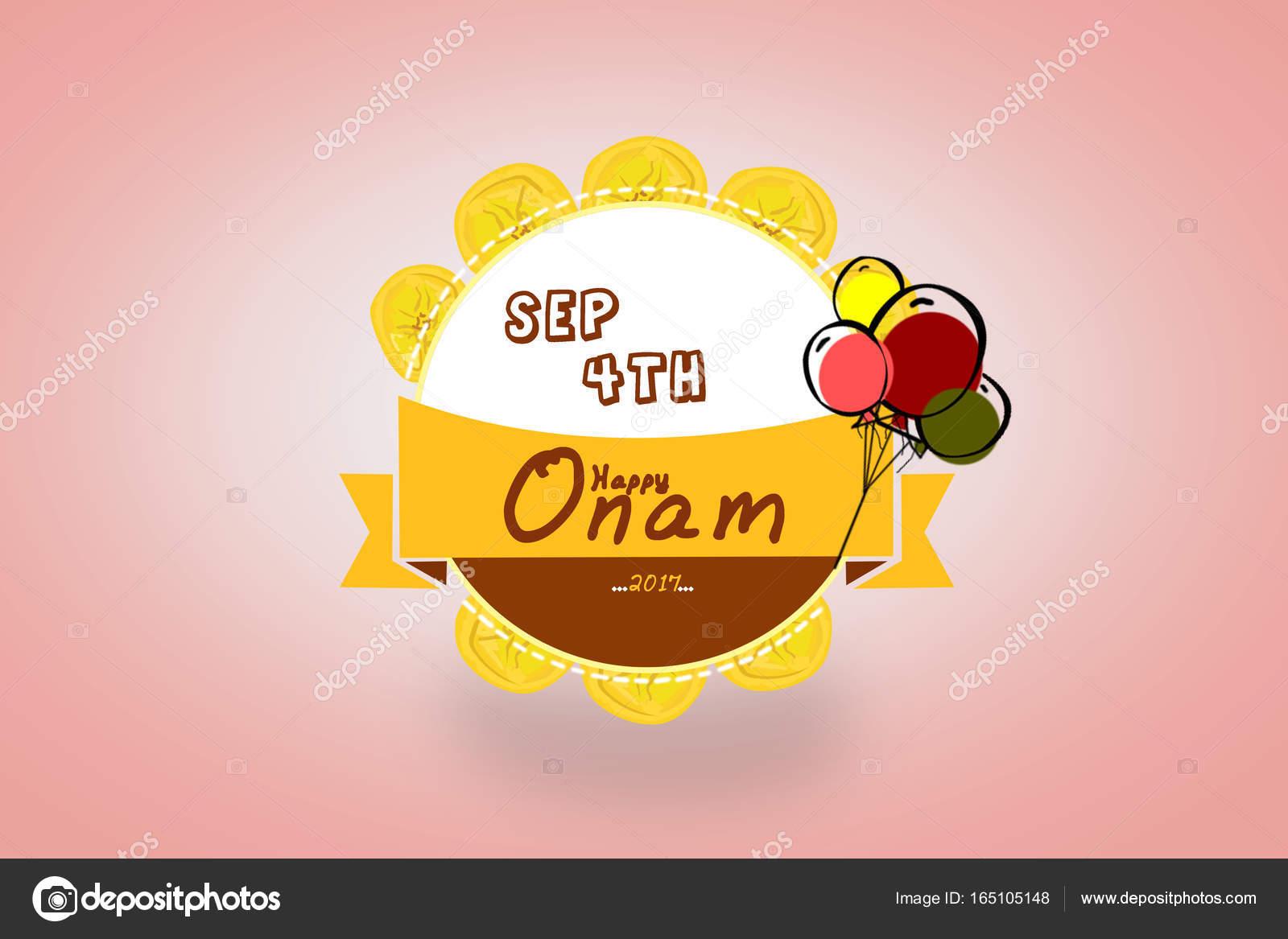 Feliz Onam Celebraciones Diseño De Tarjeta De Felicitación 4 De