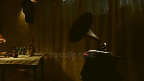 Régi gramofon lemez Vértes játék.